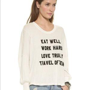 Wildfox White Mantra Pullover
